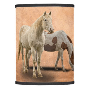 Horse lamp shades zazzle white and paint horse lamp shade aloadofball Image collections
