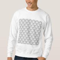 White and Pale Gray Damask Pattern. Sweatshirt