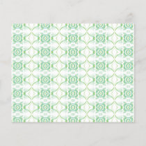 White and Pale Green Flower Pattern.
