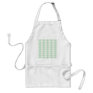 White and Pale Green Flower Pattern. Adult Apron