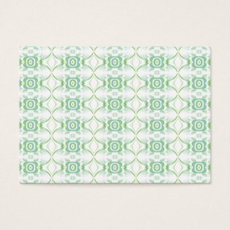 White and Pale Green Flower Pattern. Business Card