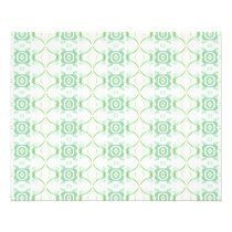 White and Pale Green Flower Pattern. Flyer
