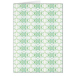White and Pale Green Flower Pattern. Greeting Card