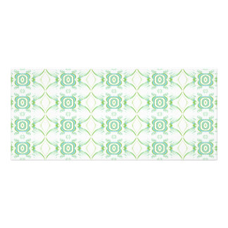 White and Pale Green Flower Pattern. Rack Card