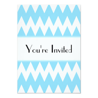 White and Pastel Blue Zigzags. Card