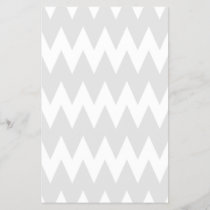 White and Pastel Gray Zigzags.