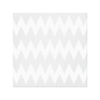 White and Pastel Gray Zigzags. Canvas Print