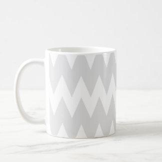 White and Pastel Gray Zigzags. Coffee Mug