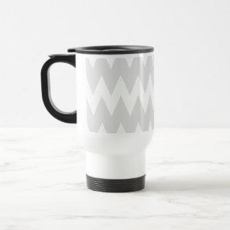 White and Pastel Gray Zigzags. Mugs