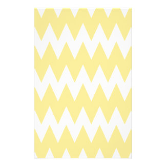 White and Pastel Yellow Zigzags. Flyer Design