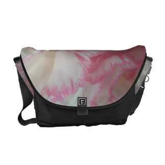 White and Pink Carnation Messenger Bag