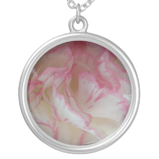 White and Pink Carnation Necklace