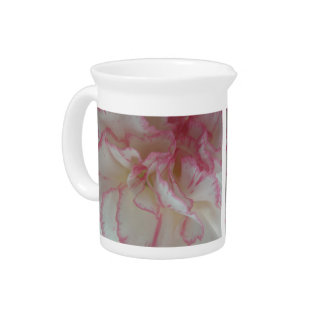 White and Pink Carnation Pitcher