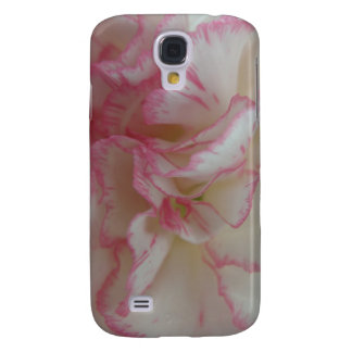 White and Pink Carnation  Samsung Galaxy S4 Case