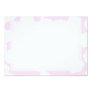 White and Pink Clouds Pattern. Card