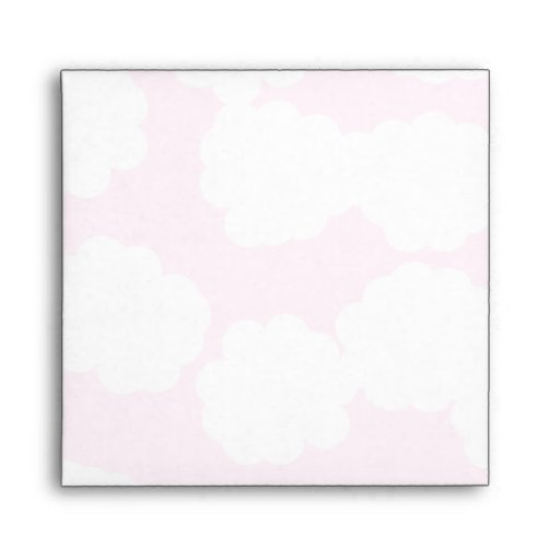 White and Pink Clouds Pattern. Envelope