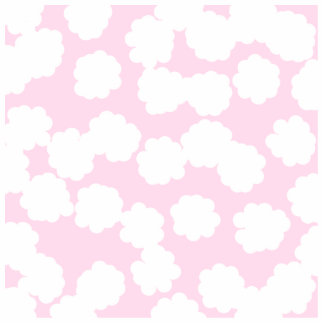 White and Pink Clouds Pattern. Photo Cut Outs