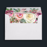 """White and Pink Floral Rose All Occasion Envelope<br><div class=""""desc"""">White and Pink Floral Rose All Occasion Envelope</div>"""