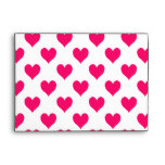 White and Pink Heart Pattern Envelopes