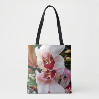 White and Pink Phalaenopsis Orchid Tote Bag