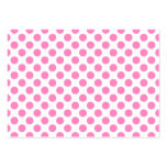 White and Pink Polka Dots Large Business Cards (Pack Of 100)