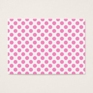 White and Pink Polka Dots Business Card
