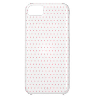 White and Pink Polka Dots Cover For iPhone 5C
