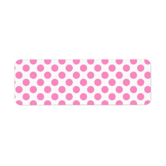 White and Pink Polka Dots Label