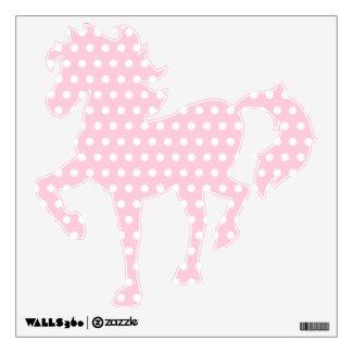 White and Pink Polka Dots Pattern. Wall Decor