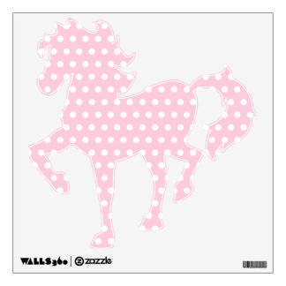 White and Pink Polka Dots Pattern. Wall Decor