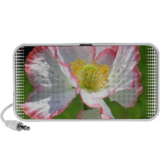 White and Pink Poppies Speakers