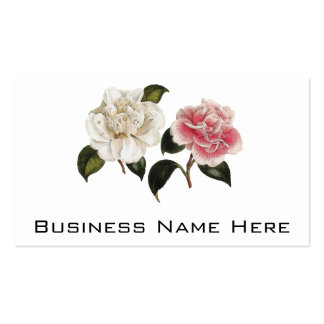 White and Pink Rose Illustration Double-Sided Standard Business Cards (Pack Of 100)