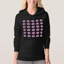 White and Pink Soccer Ball Pattern Hoodie