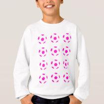 White and Pink Soccer Ball Pattern Sweatshirt