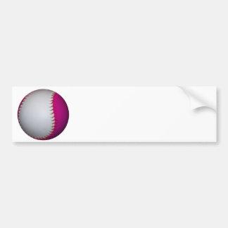 White and Pink Softball Bumper Sticker