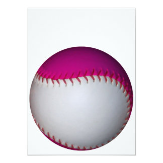 White and Pink Softball Card