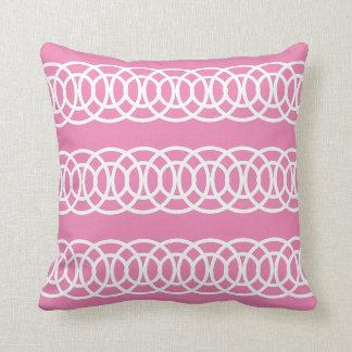 White and Pink Trellis Decorative Throw Pillow