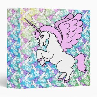 White and Pink Unicorn Binder