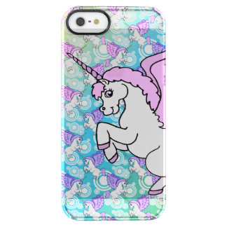 White and Pink Unicorn Clear iPhone SE/5/5s Case