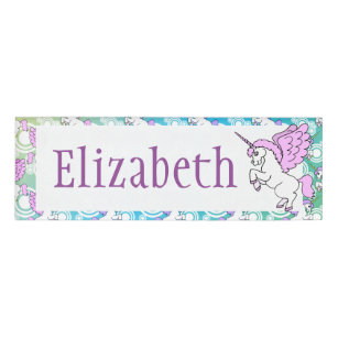 Unicorn Name Tags Zazzle