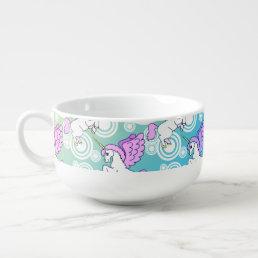 White and Pink Unicorn Soup Mug