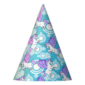 White and Pink Unicorns Party Hat