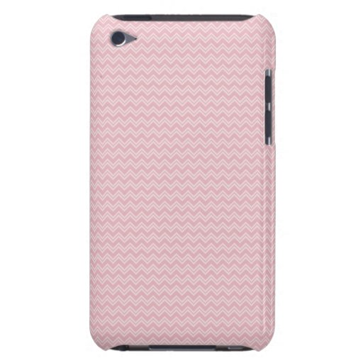 White and Pink Zig Zag Stripe Pattern iPod Touch Case-Mate Case