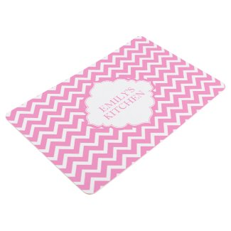 White And Pink Zigzag Chevron Pattern
