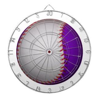 White and Purple Baseball / Softball Dartboard With Darts