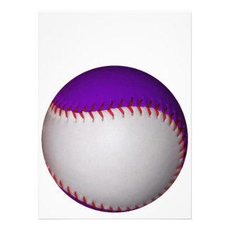 White and Purple Baseball / Softball Personalized Invites
