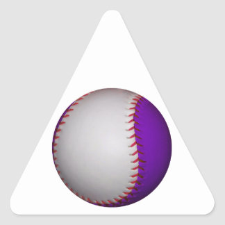 White and Purple Baseball / Softball Triangle Sticker