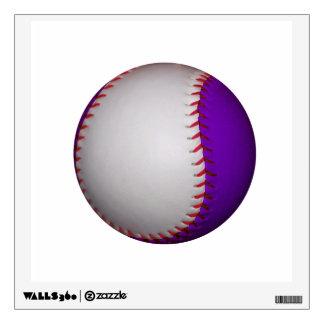 White and Purple Baseball / Softball Wall Sticker