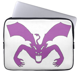 White And Purple Devil Laptop Computer Sleeves
