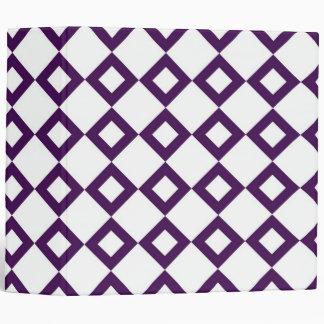 White and Purple Diamond Pattern Binders